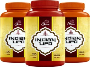 Indian Lipo - Kit com 3 Potes - Shiva Natural - 360caps