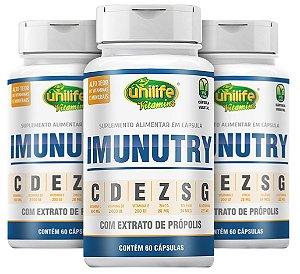 Kit Imunidade Max - Vitaminas C, D, E, Zinco, Selênio, Própolis