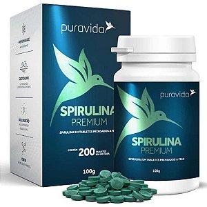 Spirulina Premium - 200 Tabletes Prensados a Frio - Pura Vida