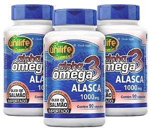 Alpha Omega 3 Oleo de Salmão - Kit com 3 - 270 Capsulas - Unilife