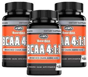 BCAA Unilife Bodyage - Kit com 3 - 540 Cápsulas (630mg)