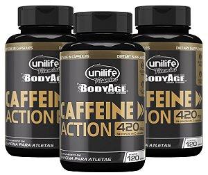 Caffeine Action – Cafeína - Kit com 3 - 360 Cápsulas (700mg) - Unilife