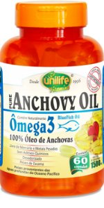 Óleo de Anchova (Anchovy Oil) 1500mg 60 Cápsulas Unilife