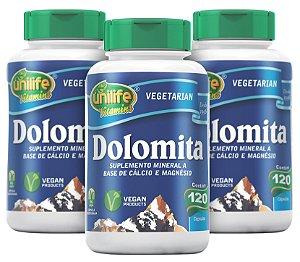Dolomita  - Kit com 3 - 360 Cápsulas (950mg) - Unilife