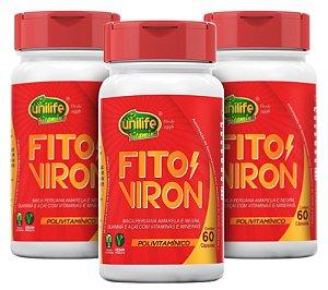 Fito Viron - Fórmula Testomaster - Kit com 3 - 180 CÁPSULAS - Unilife