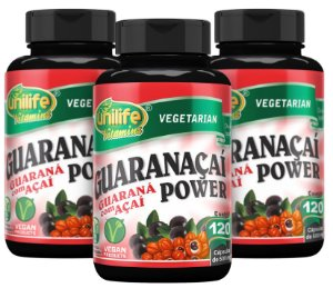 Guaranaçaí Power - Kit com 3 - 360 Cápsulas (500mg) - Unilife