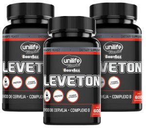 Leveton Levedo de Cerveja - Kit com 3 - 1800 Comprimidos - Unilife