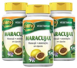 Maracujax Calmante Natural de Maracujá - Kit com 3 - 270 Caps Unilife