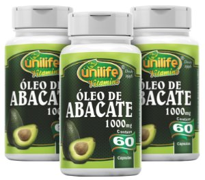 Óleo de Abacate - Kit com 3 - 180 Caps (1200mg) - Unilife