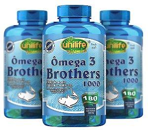 Omega 3 Brothers - Kit com 3 - 540 Caps - Unilife