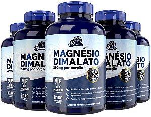 Kit com 5 Magnésio Dimalato Premium (290mg) 900 cápsulas - Shiva