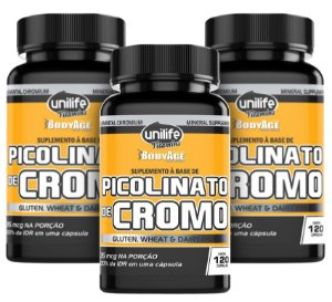 Picolinato de Cromo Unilife - Kit com 3 - 360 Caps - Unilife