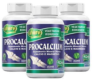 Procalcium Cálcio e Magnésio - Kit com 3 - 360 Caps  (950mg) - Unilife