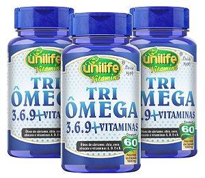 Tri Omega 3-6-9 1000mg - Kit com 3 - 180 cápsulas Unilife