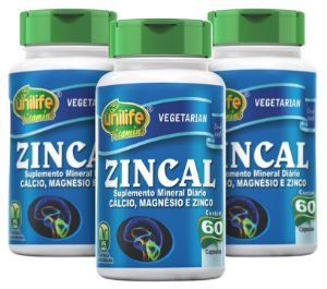 Zincal - Kit com 3 - 180 Caps (950mg) - Unilife