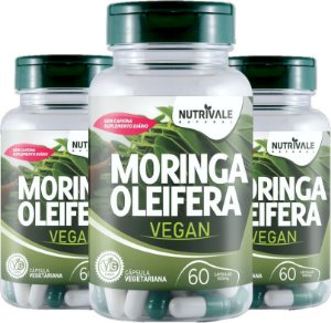 Kit com 3 Moringa Oleifera 180 caps Vegana - Nutrivale