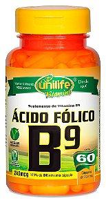 Vitamina B9 Acido Folico 60 Capsulas (500mg) - Unilife