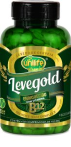 Levedo de Cerveja Unilife - Levegold (450mg) com 450 comprimidos