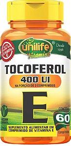 Vitamina E Tocoferol 60 cáps (1000mg) - Unilife