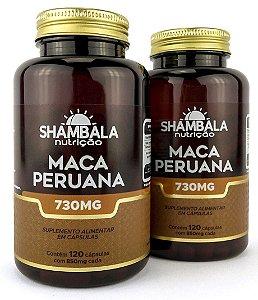 Kit com 2 Maca Peruana Shambala com 240 caps e 700mg