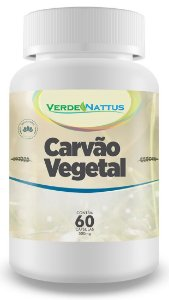 Carvão Vegetal  (Carbo Activatus) - 60 caps - Verde Nattus
