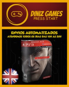 Metal Gear 4 Psn Ps3