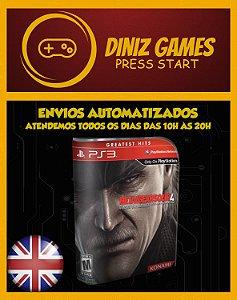 Metal Gear 4 Psn Ps3