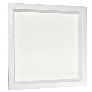 Luminária Plafon 25W LED Embutir Recuado Quadrado Branco Frio