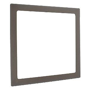 Luminária Plafon 25w LED  Embutir Quadrado Branco Quente Marrom