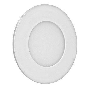 Luminária Plafon 3w LED Embutir Branco Frio