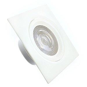 Spot LED SMD 9W Quadrado Branco Frio