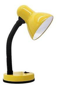 Luminária De Mesa Abajur Mini Office Amarelo