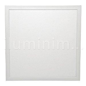 Luminária Plafon 40x40 32w LED Embutir Branco Neutro