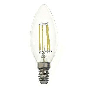 Lâmpada LED Vela Cristal E14 2W Bivolt Branco Quente | Inmetro