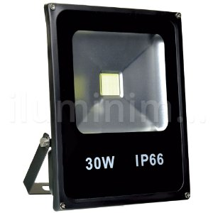 Refletor Holofote LED 30w Branco Frio Preto