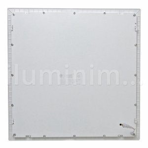 Luminária Plafon 60x60 48W LED Embutir Branco Frio Borda Branca