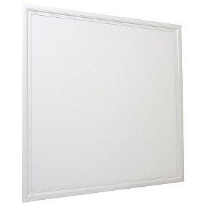 Luminária Plafon 60x60 48W LED Embutir Branco Quente Borda Branca