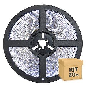 Fita LED Branco Frio 5050 20 metros IP65 com Fonte