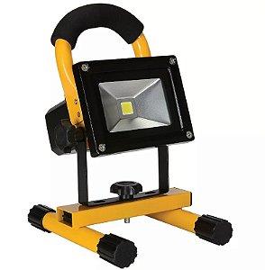 Refletor Holofote LED 20w - 12v - Recarregável Branco Frio