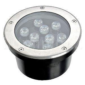 Spot Balizador LED 9W Branco Quente para Piso