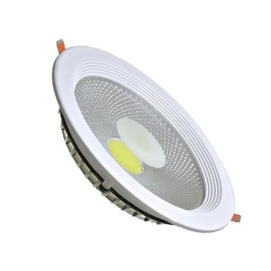 Spot LED 30W COB Industrial Redondo Base Branca