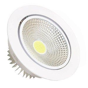 Spot LED 5W COB Embutir Redondo Branco Quente Base Branca