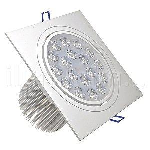 Spot 18W Dicróica LED Direcionável Base Branca