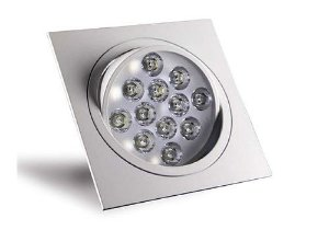 Spot 12W Dicróica LED Direcionável Base Alumínio