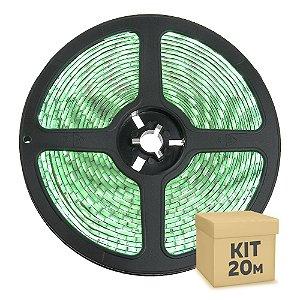 Fita LED Verde 3528 20 metros IP65 com Fonte