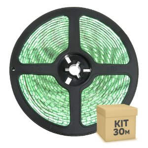 Fita LED Verde 5050 30 metros com Fonte