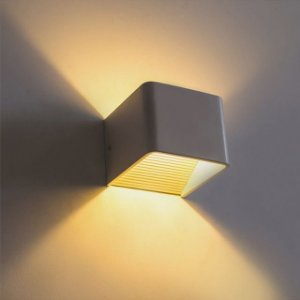 Luminária Arandela LED 3W Branco Quente Cubo