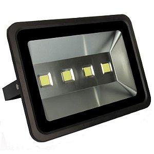 Refletor Holofote LED 200w Branco Frio Preto