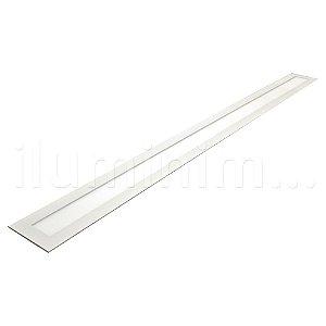 Luminária Plafon 10x120 30w LED Embutir Branco Frio Borda Branca
