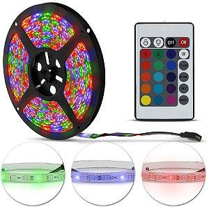 Fita LED 3528 RGB 5 Metros IP65 - À prova d'água - 24W